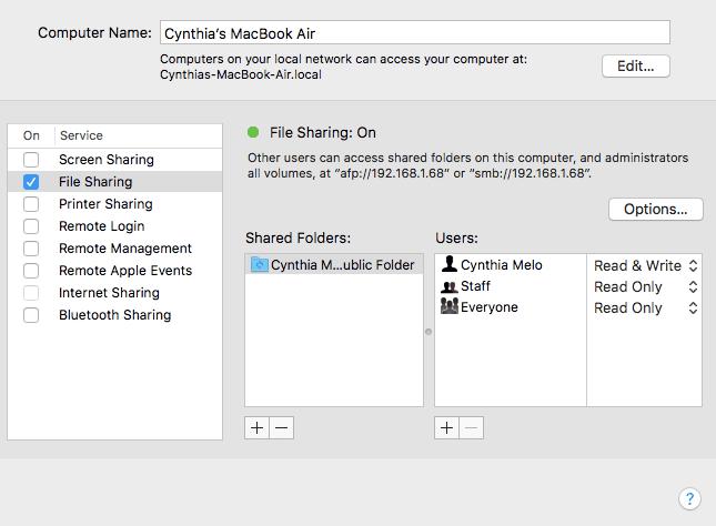 انتقال فایل بین ویندوز و مک