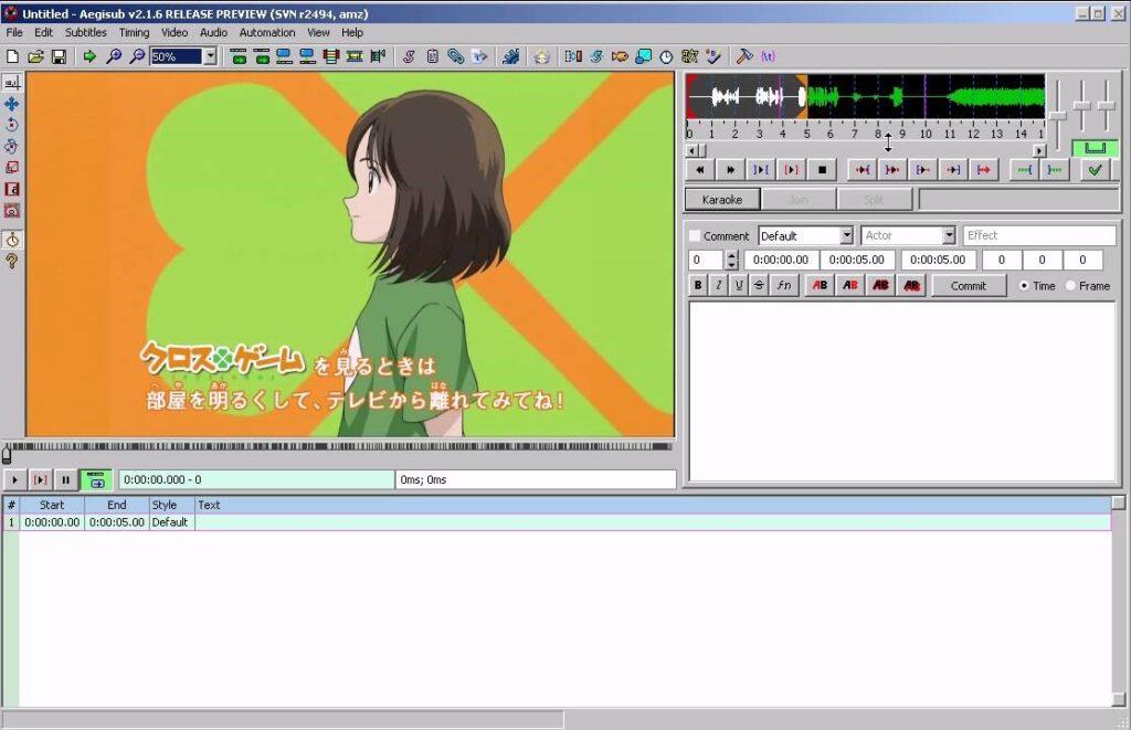 زیرنویس خودکار با برنامه Aegisub
