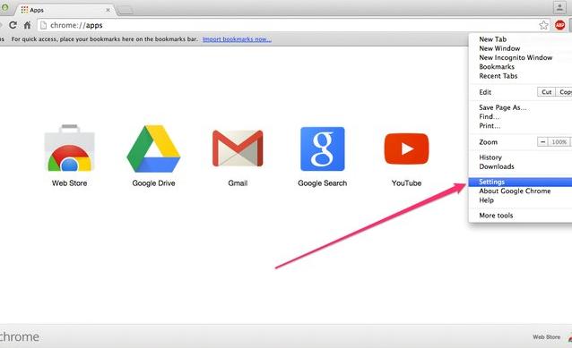 موتور جستجو گوگل کروم