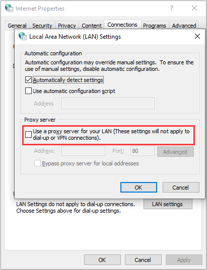 راه حل err_proxy_connection_failed