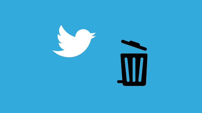 آموزش دیلیت اکانت توییتر