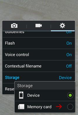 تنظیمات دوربین گوشی