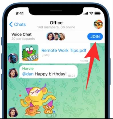 آموزش تماس صوتی تلگرام
