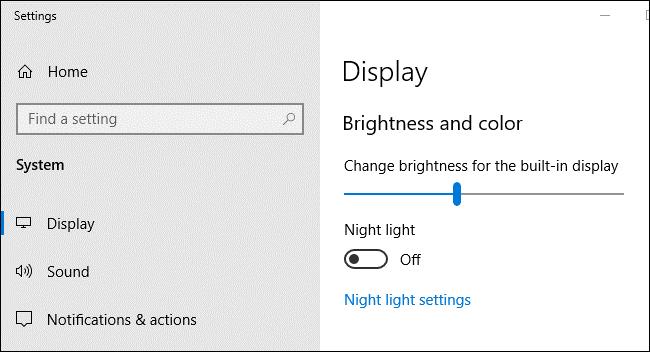 چگونه تنظیم نور صفحه