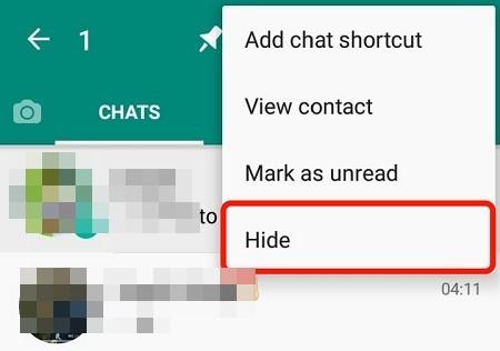 چگونه چت را واتساپ مخفی کنیم