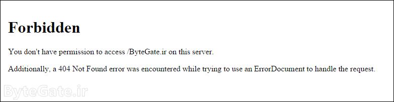 403 Error example