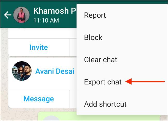 خارج کردن چت های تلگرام