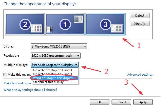 چگونگی اتصال یک یا چند مانیتور به یک لپ تاپ