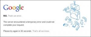 502 ERROR Google