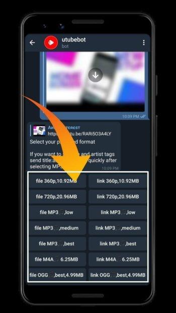 دانلود ویدئو یوتیوب از تلگرام