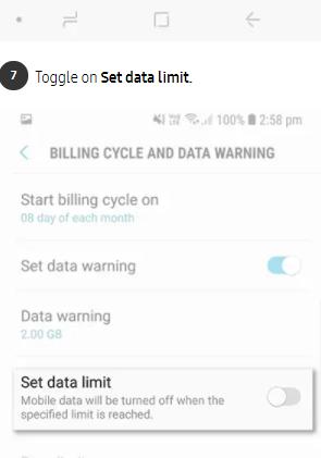 راه حل مشکل Data usage warning