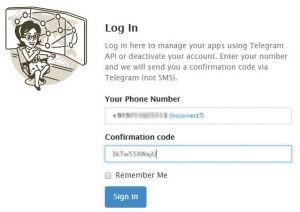 telegram delet account