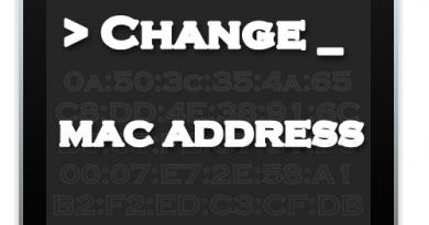 تغییر دادن آدرس مک MAC