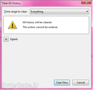 Clear Firefox Cache 4