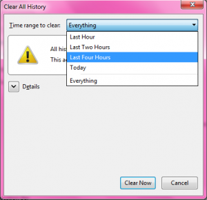 Clear Firefox Cache 5