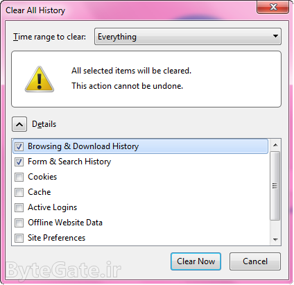 Clear Firefox History All 2