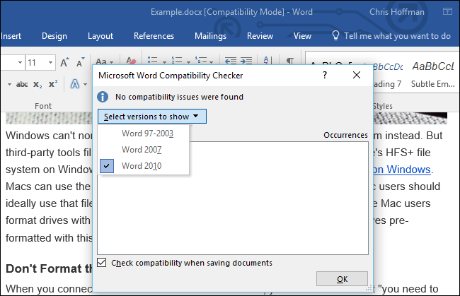 Compatibility mod3.