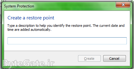 نحوه ساخت Restore Point