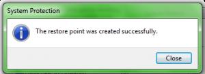 Create Restore Point 8