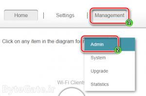 D-Link Managment Admin - Password