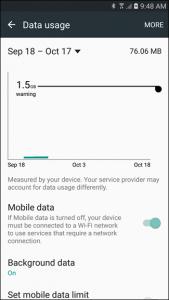 Data-Usage-Menu