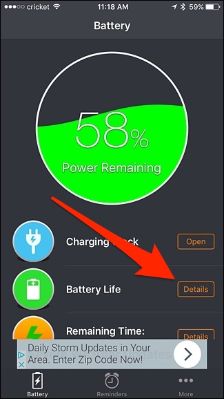 Details-battery life.