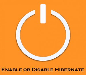 Enable or Disable Hibernate