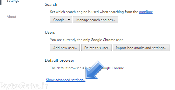 Enable or Disable cookie in google chrome 3