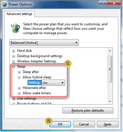 Enable or Disable hibernate power options 4