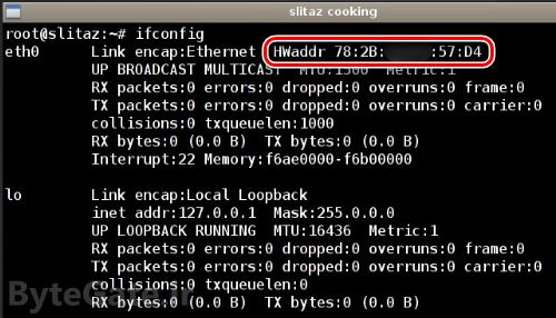 بدست آوردن آدرس مک MAC لینوکس