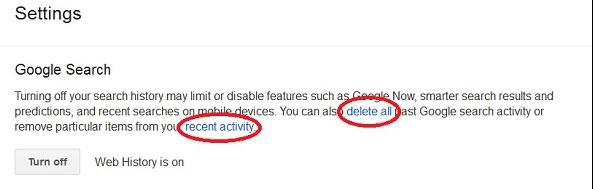جلوگیری از ثبت جستجو ها