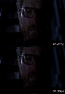 HD (720p) vs SD (480p) Breaking bad
