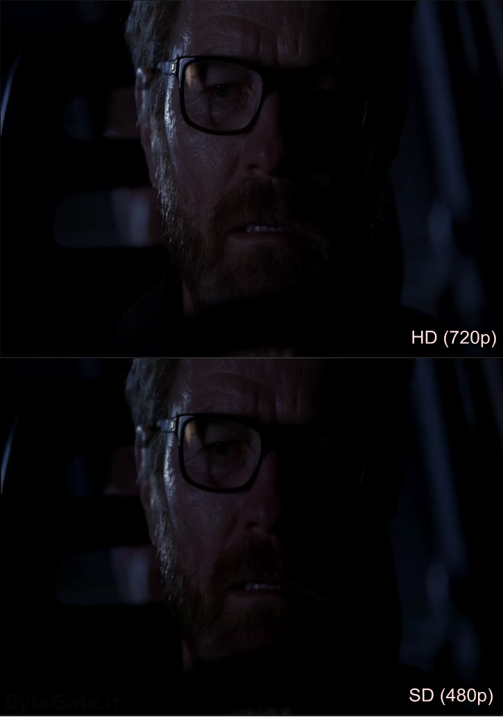 HD (720p) vs SD (480p) Breaking bad