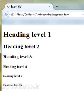 فایل اچ تی ام ال HTML