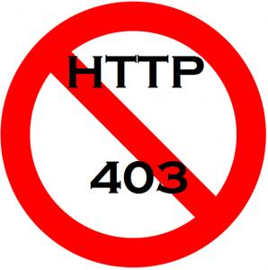 HTTP 403 Error