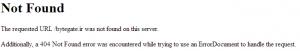 HTTP 404 Error 1