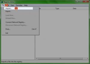 Import Registry Backup 2