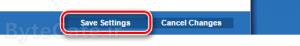 Linksys Cisco Save settings