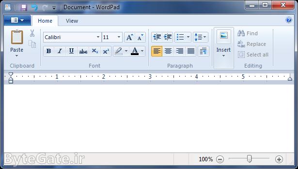 برنامه Microsoft WordPad