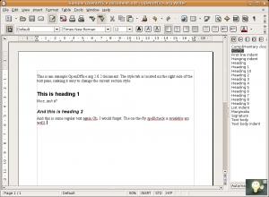 OpenOffice DOCX