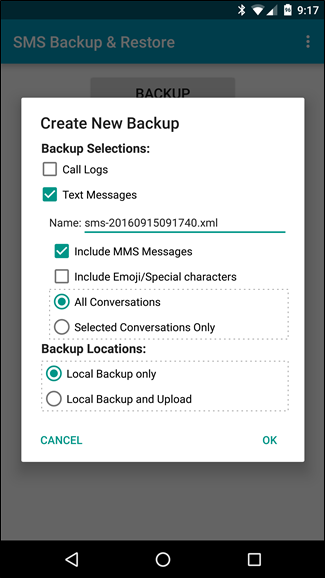 SMS-backup-restore-create