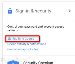 عوض کردن رمز جیمیل Gmail