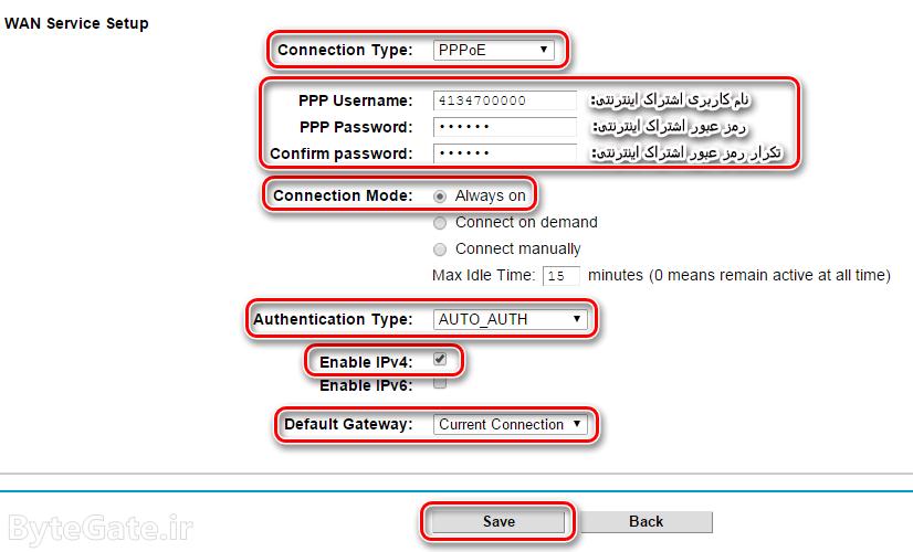 نصب تنظیم کانفیگ مودم TP-Link config