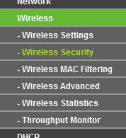 TP-Link Green Wireless Security