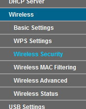 TP-link Wireless - Security