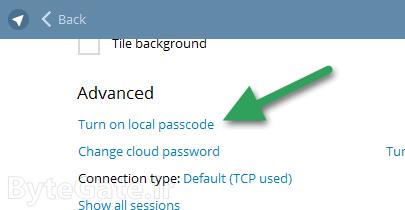 قفل کردن تلگرام دسکتاپ کامپیوتر