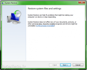 Use Restore point 1