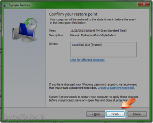 Use Restore point 6