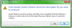 Use Restore point 7