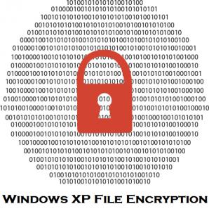 Windows XP encryption